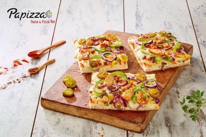 franquicia trozos de pizza